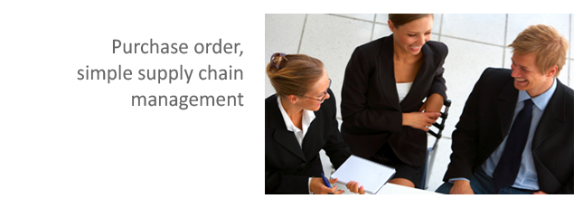Purchase order, simple supply chain management